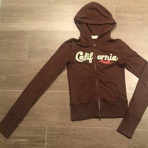 Hollister California zip up hoodie.